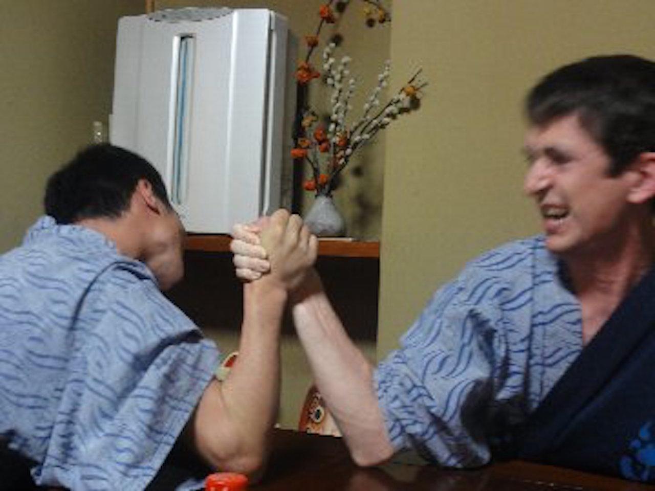 日米アームレスリング対決
